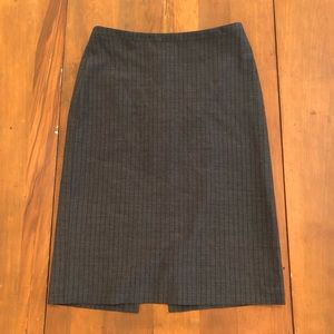 Banana Republic Gray Pinstripe Skirt